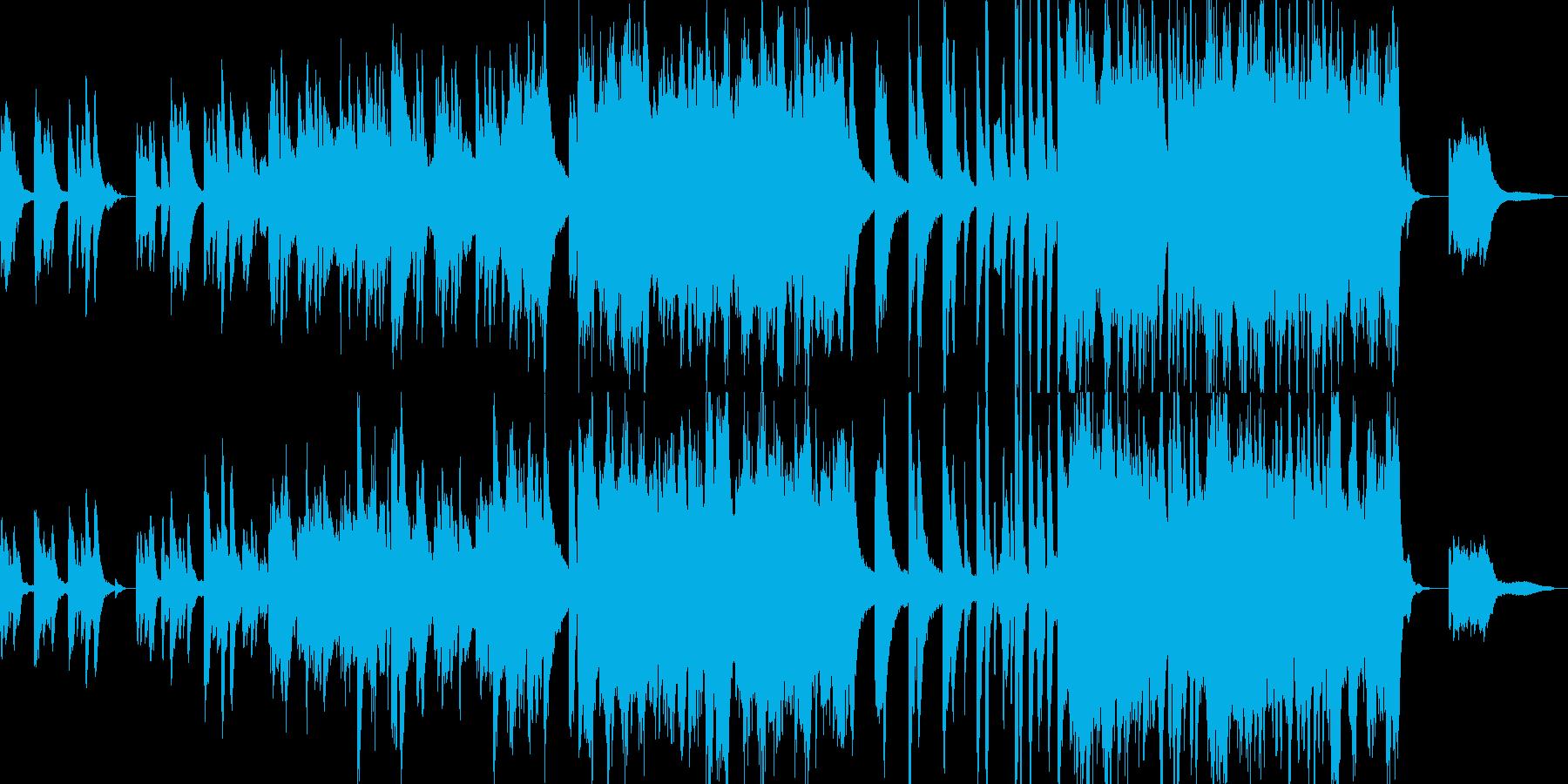 叙情的で悲しいピアノの独奏の再生済みの波形