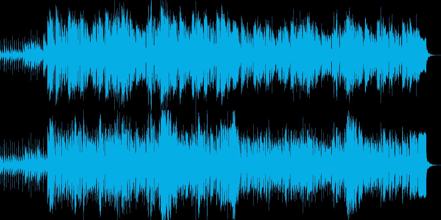 哀愁漂う曲の再生済みの波形