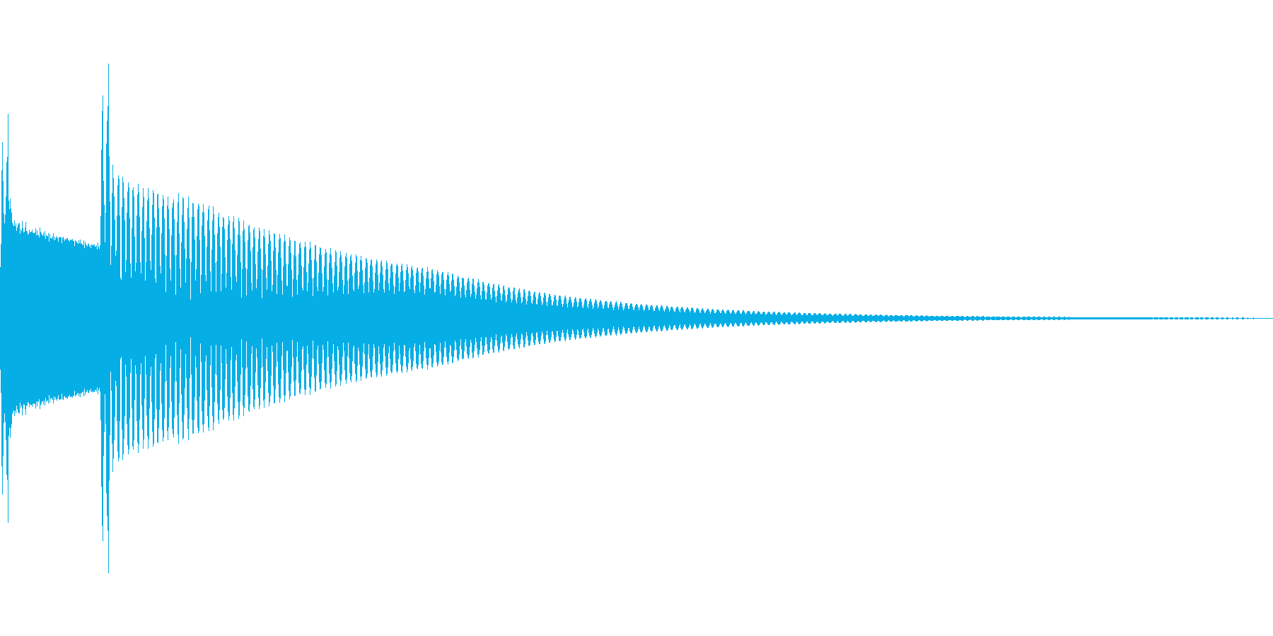 クイズ正解(ピンポーン)の再生済みの波形