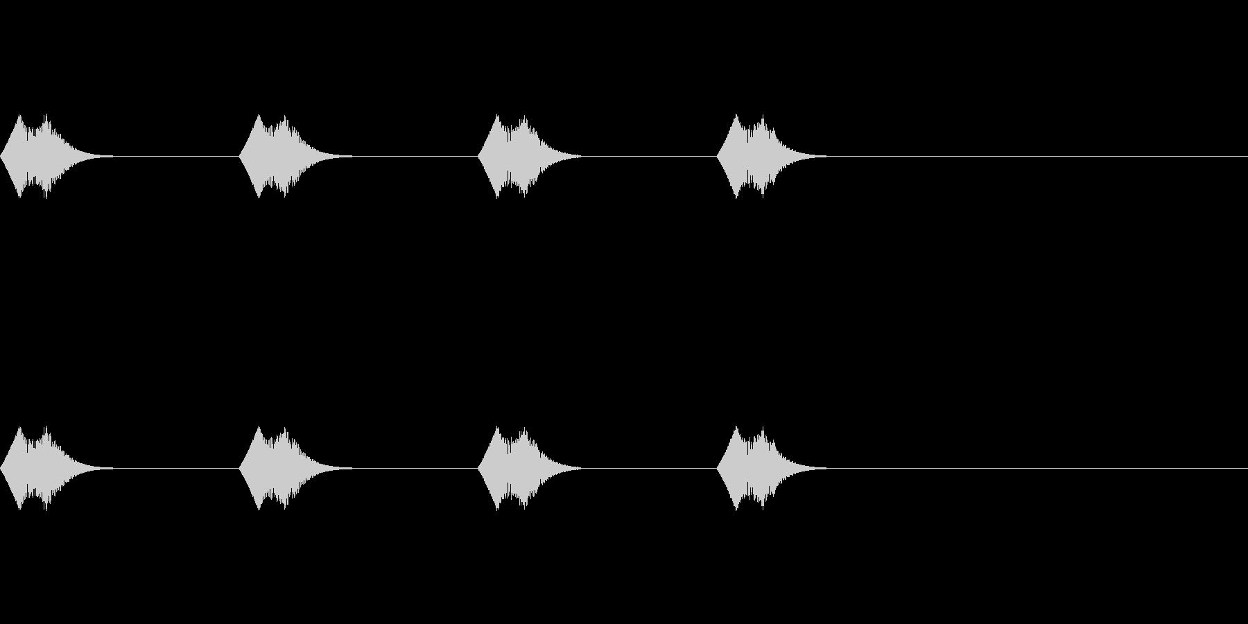 動物がぴょこぴょこ移動する時のかわいい音の未再生の波形