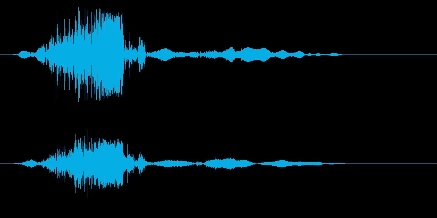 ライター着火(擦る音)の再生済みの波形