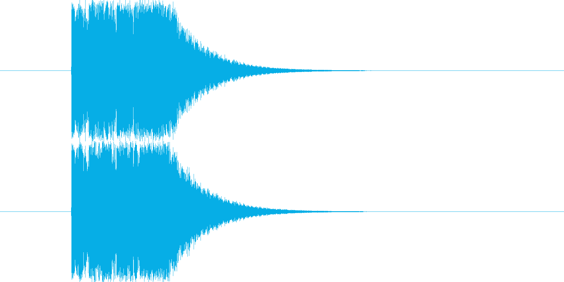Synthで作成したオーソドックスなウ…の再生済みの波形