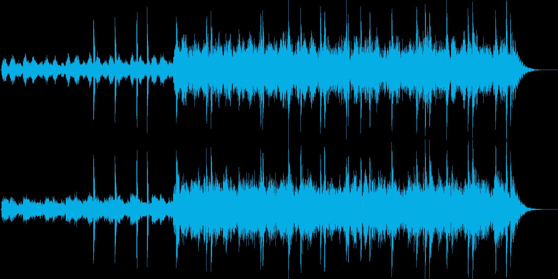 ピアノ&ノイズ。緊迫・不安。会話、ホラーの再生済みの波形
