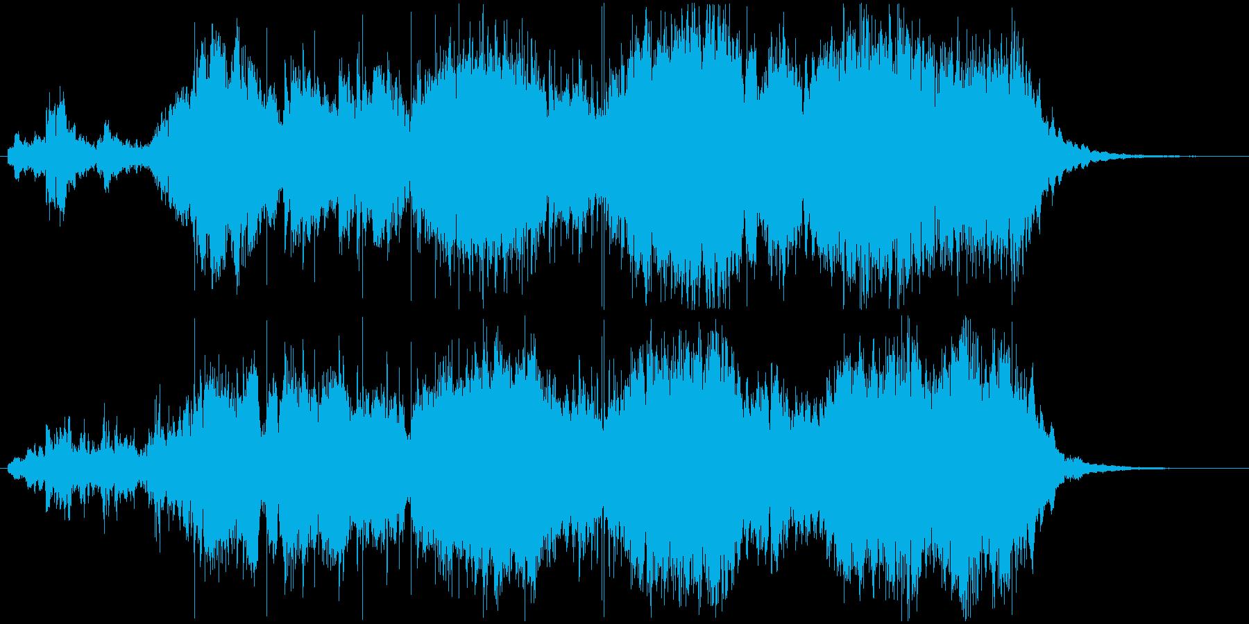 トレーラー・予告編ぽい短いオーケストラ曲の再生済みの波形