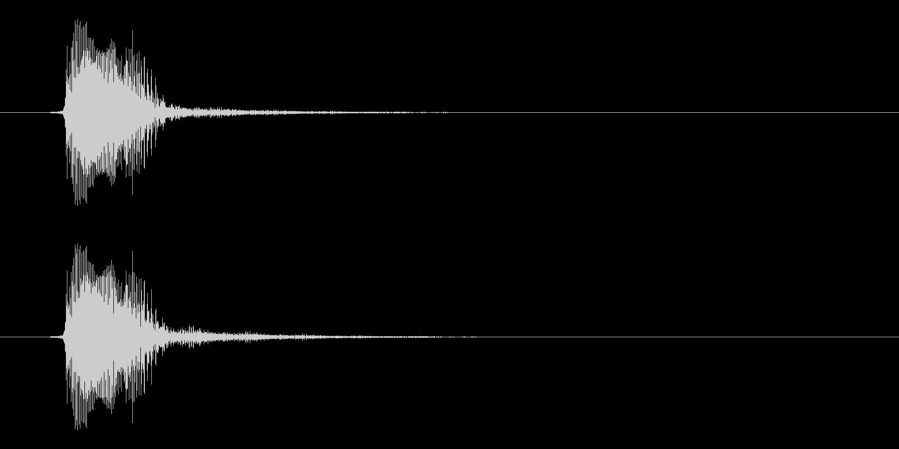 宇宙人ボイス的効果音。かわいい系。の未再生の波形