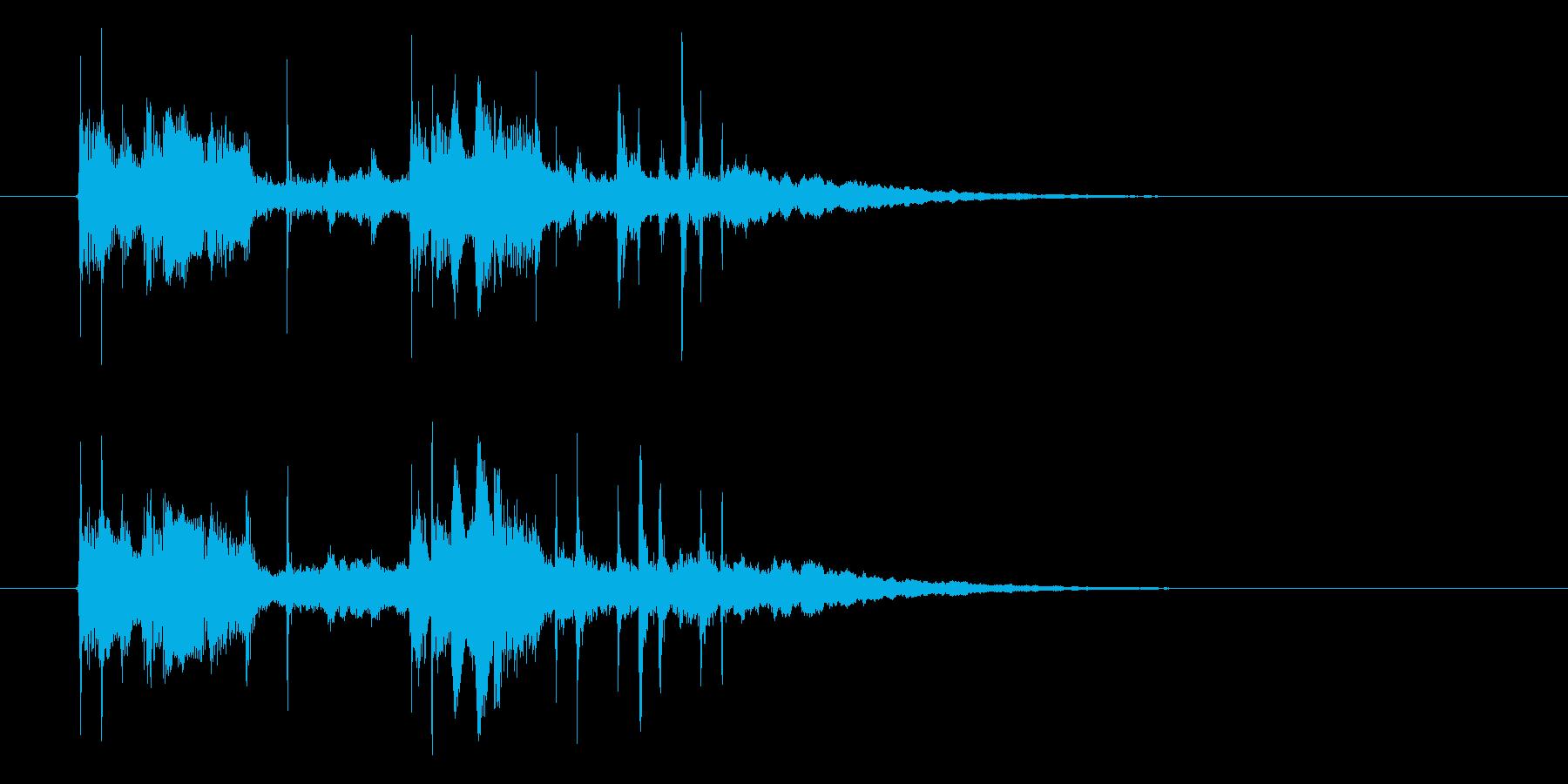 神秘的でメローなシンセジングルの再生済みの波形