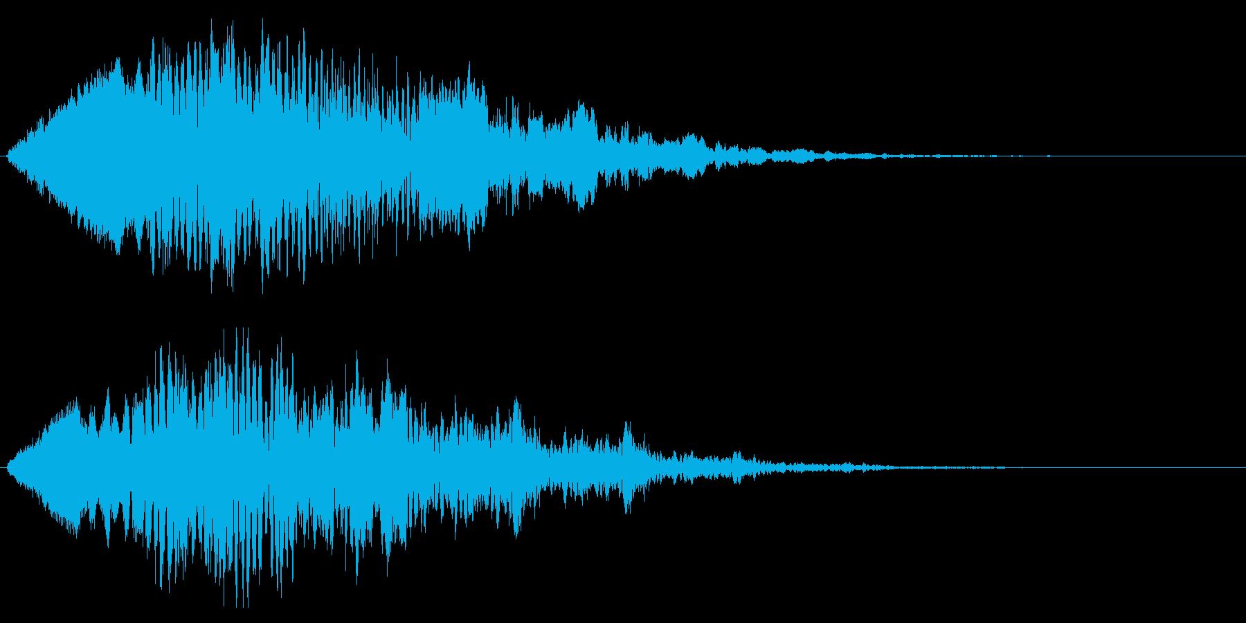フォーン(近未来的なワープ音)の再生済みの波形