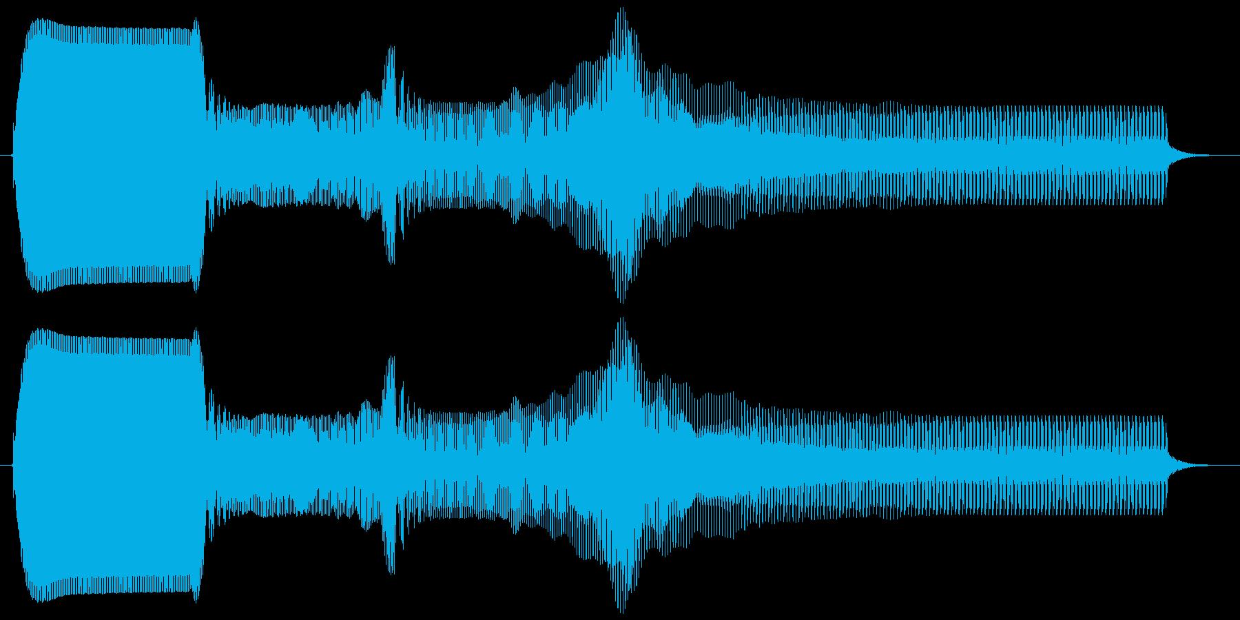 ピィュゥ。落ちる・下がる・飛んでいく音の再生済みの波形