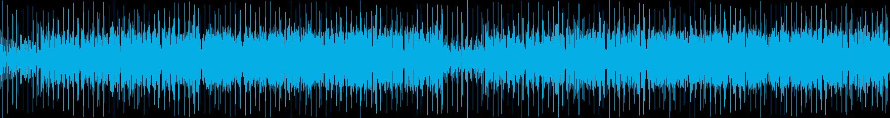 パズルゲーム風のかわいい音楽の再生済みの波形