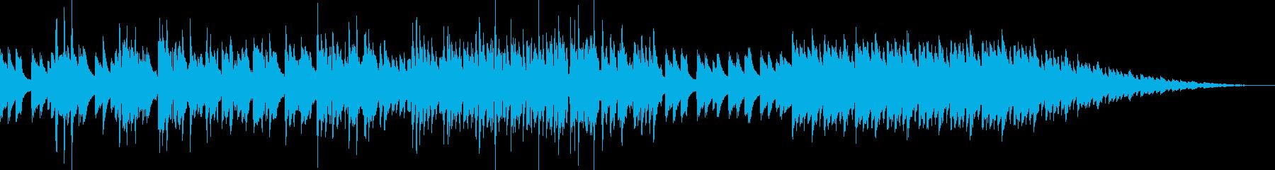 軽快な英語詞のアコースティックソングの再生済みの波形