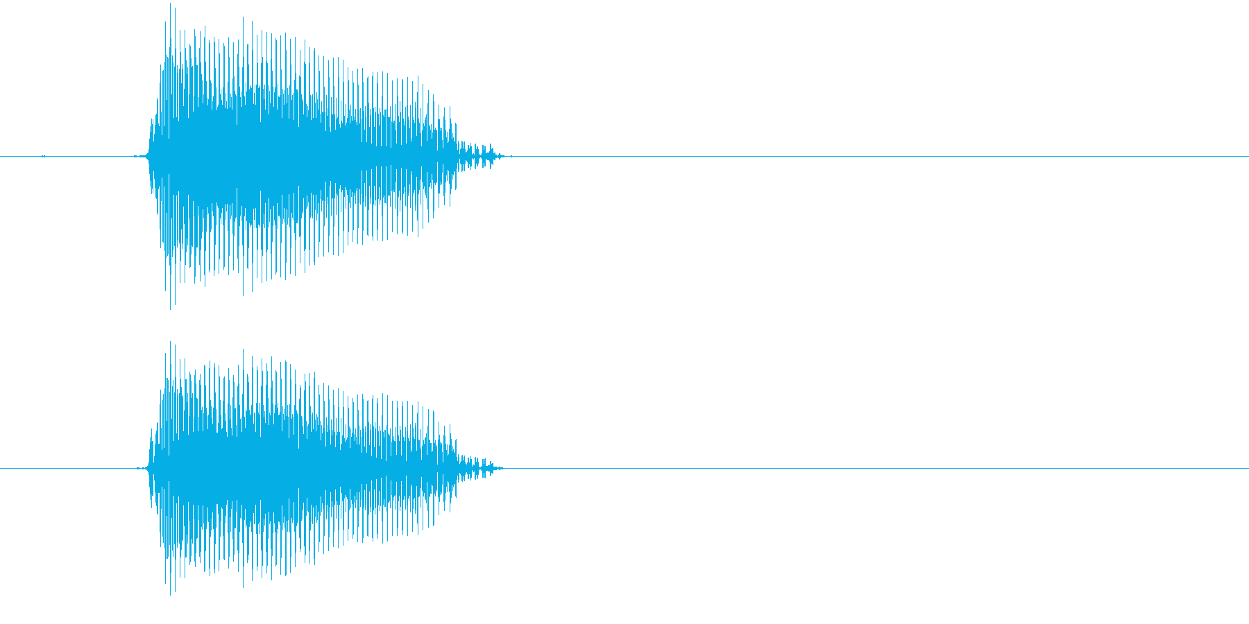 ぱん・パン(2歳児の生声です)の再生済みの波形