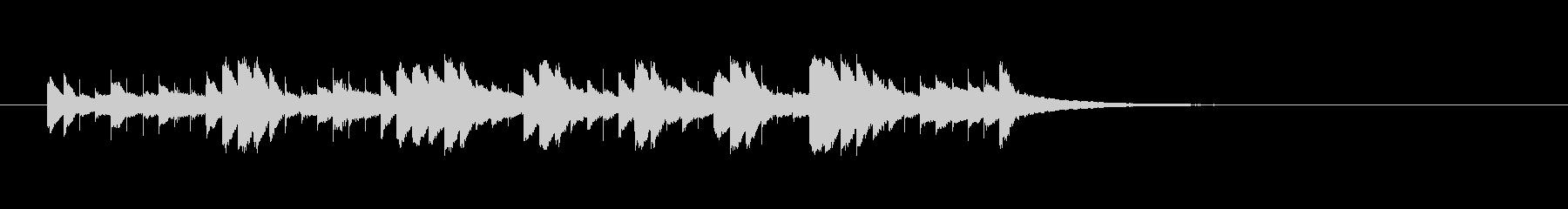 オルゴールのアラベスクの未再生の波形