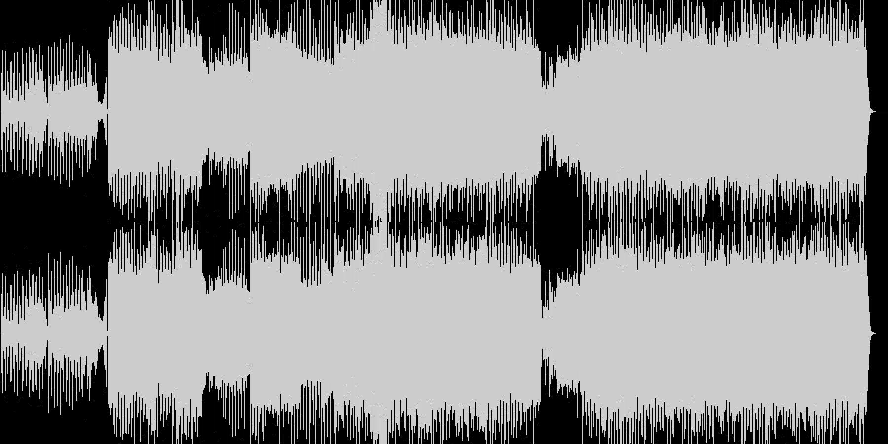 和風多展開ハードロック琴ありインストの未再生の波形