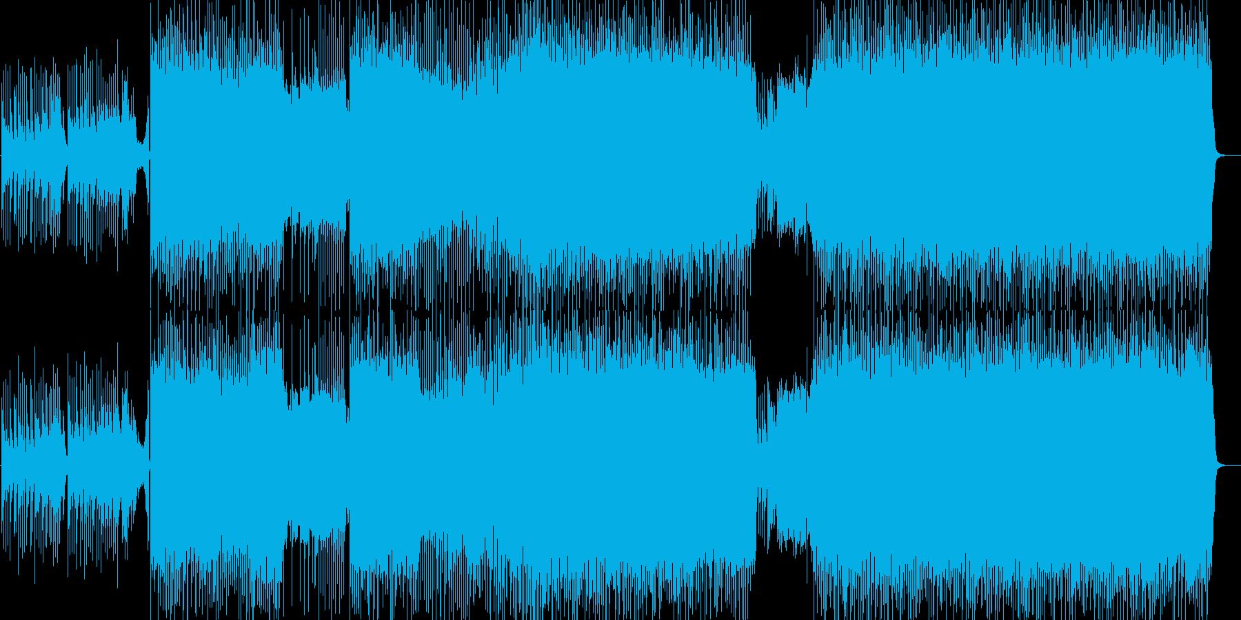 和風多展開ハードロック琴ありインストの再生済みの波形