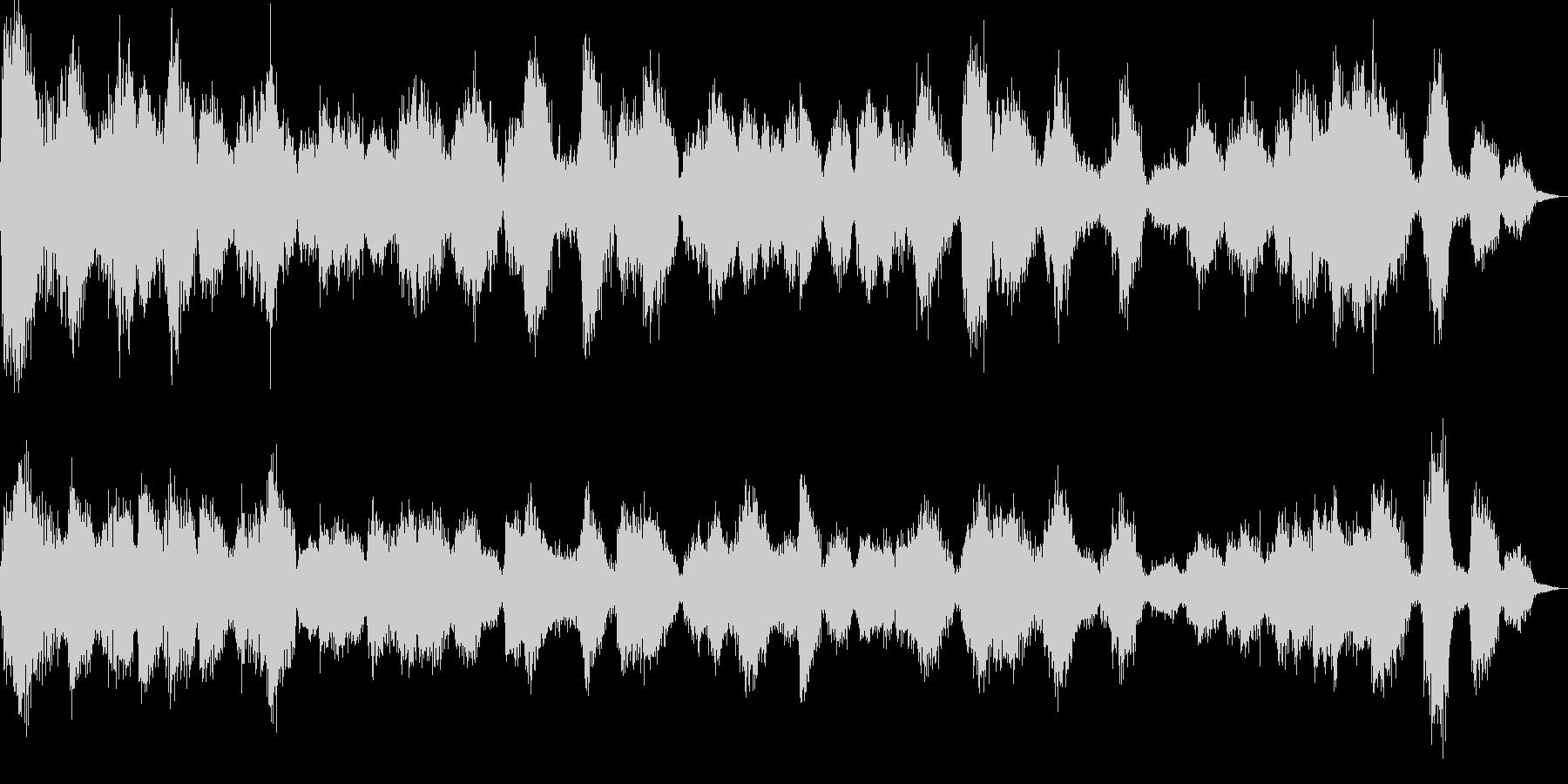 カラスの大群の未再生の波形