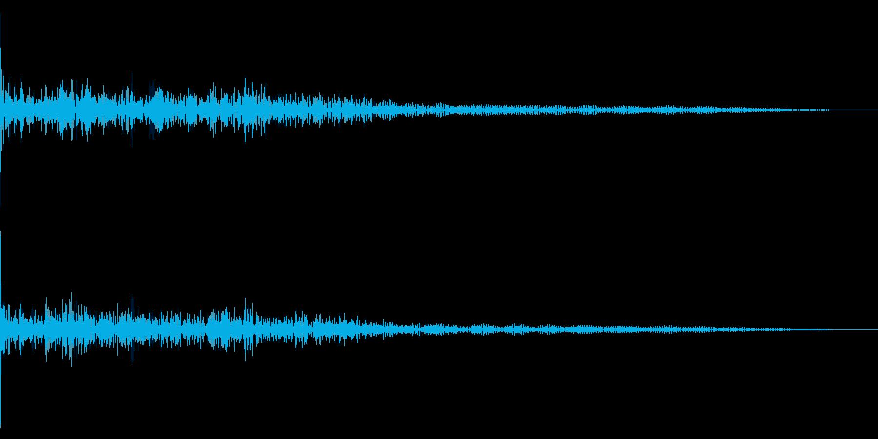 ホラー系アタック音10の再生済みの波形