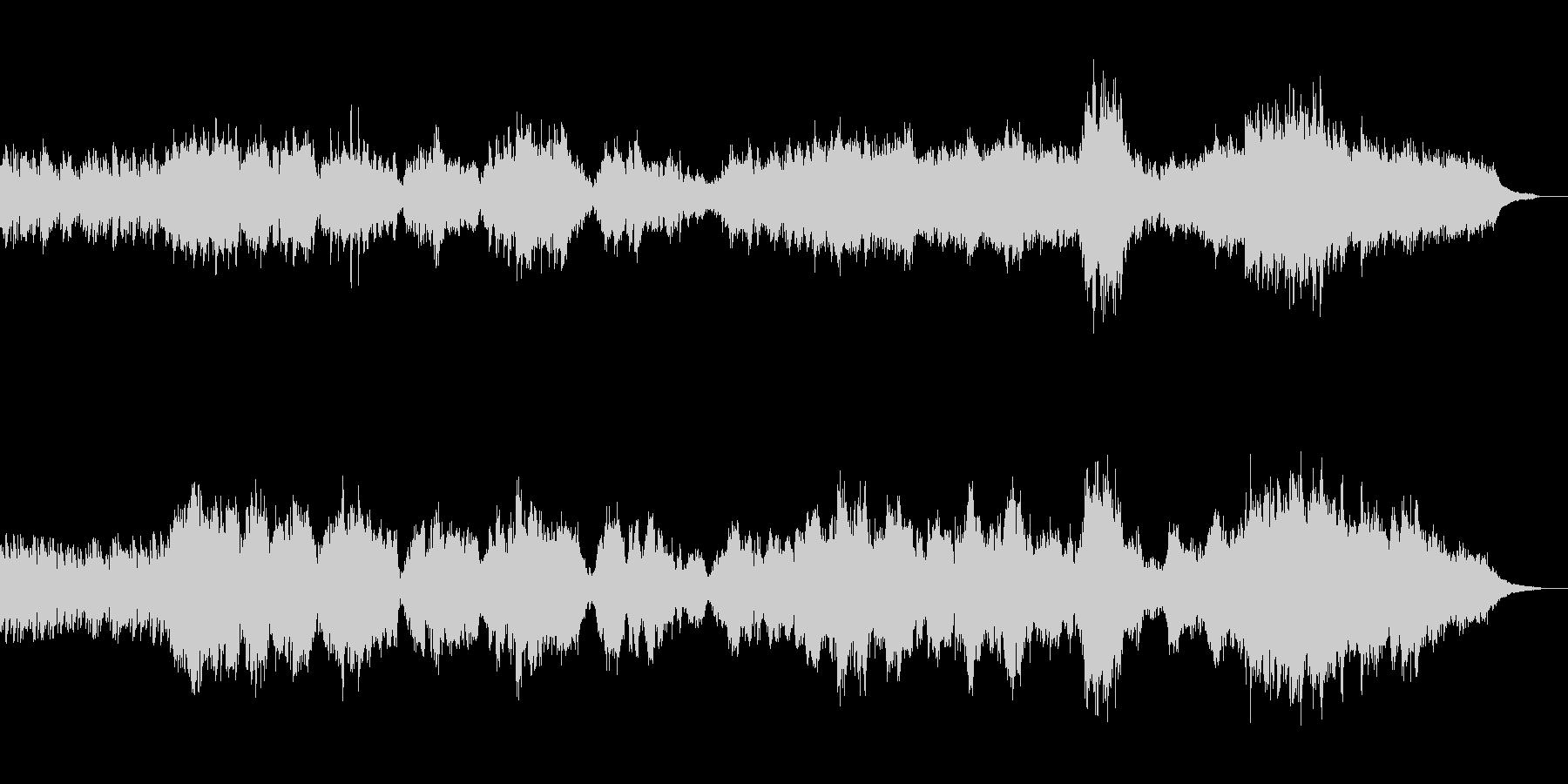 グノーのアヴェ・マリア、ピアノとチェロの未再生の波形