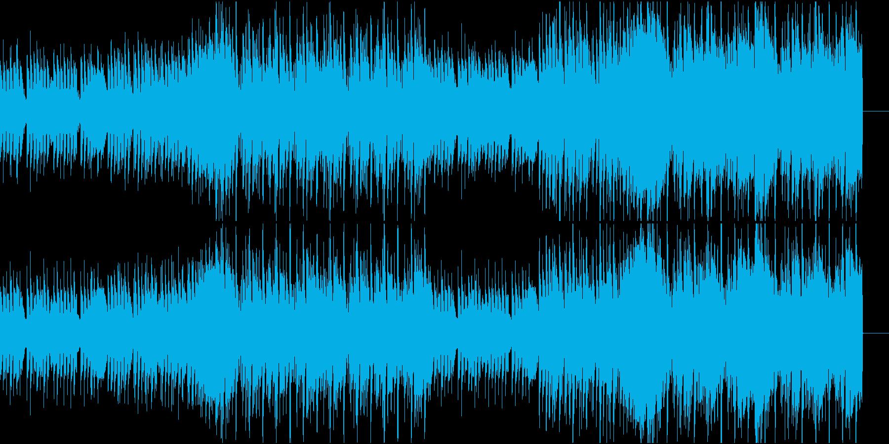 YouTubeやInsta映え向きBGMの再生済みの波形