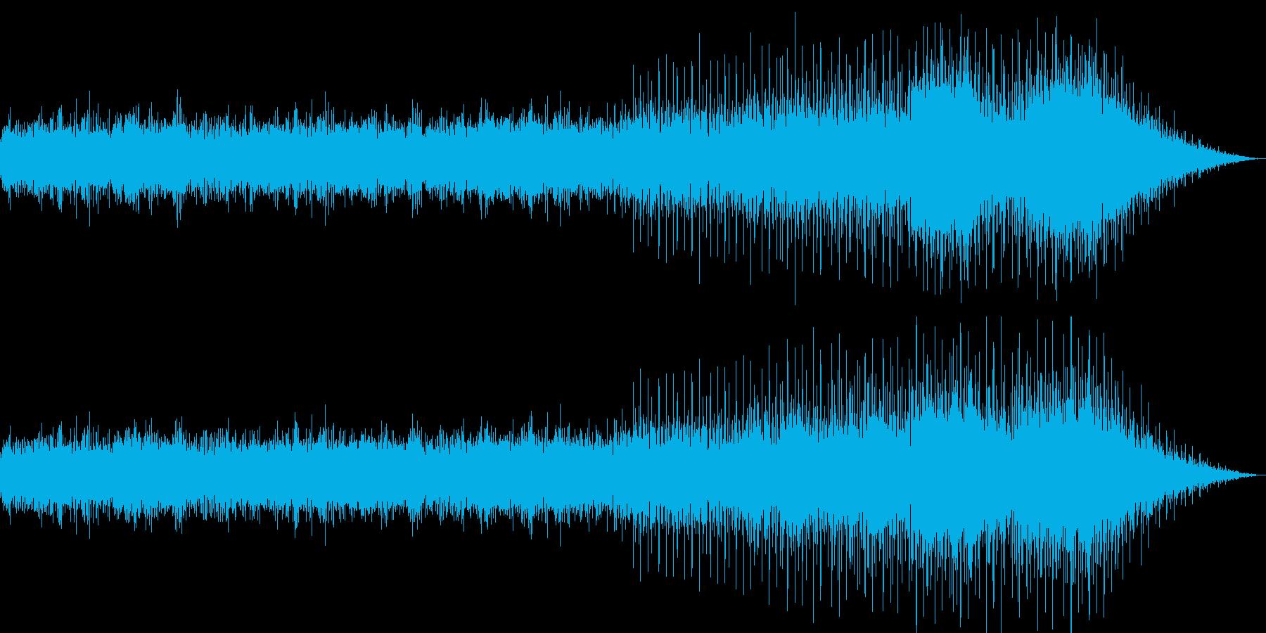 ゆったりしたヒーリングミュージックの再生済みの波形