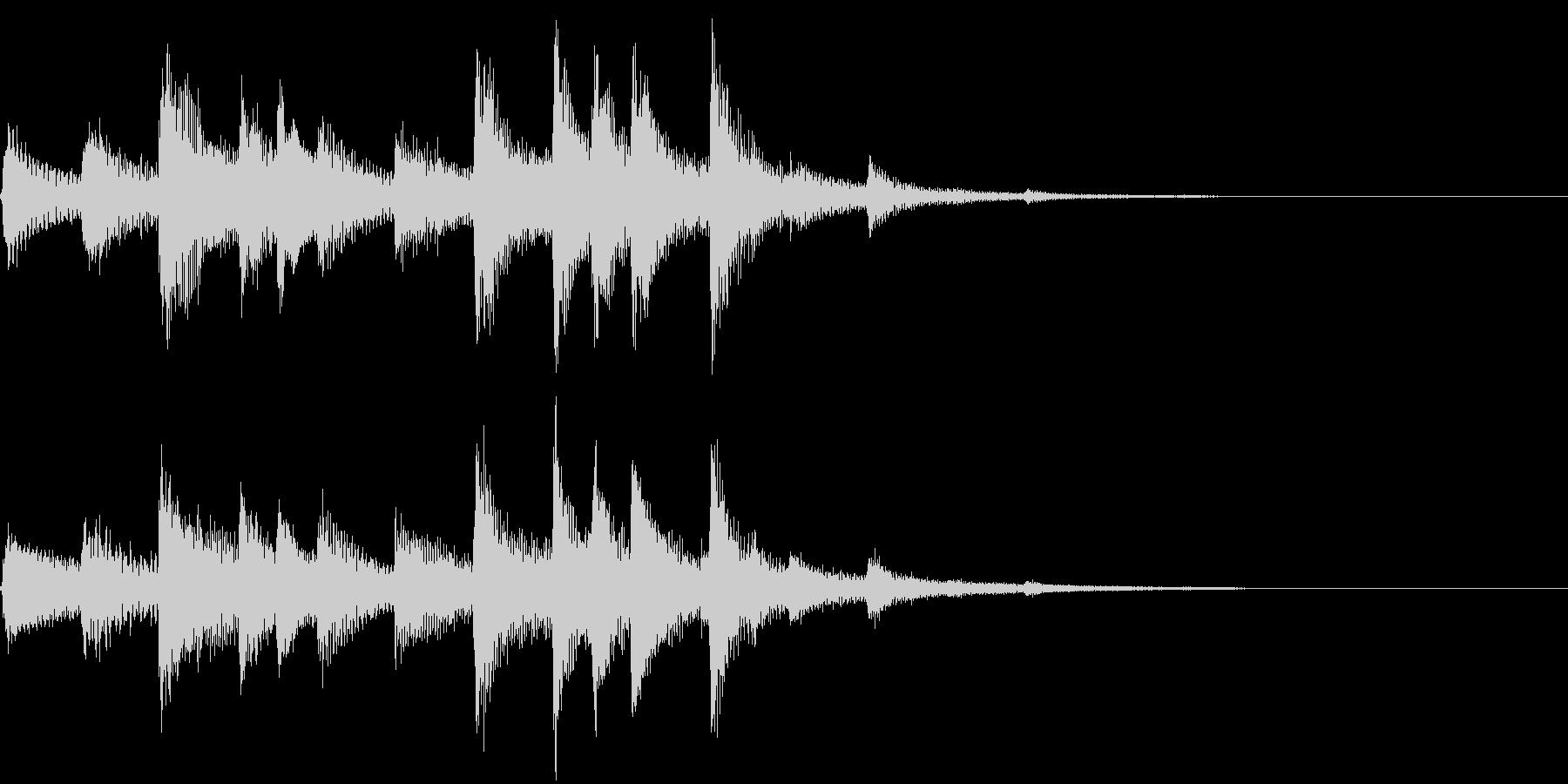 琴の和風ジングル4の未再生の波形