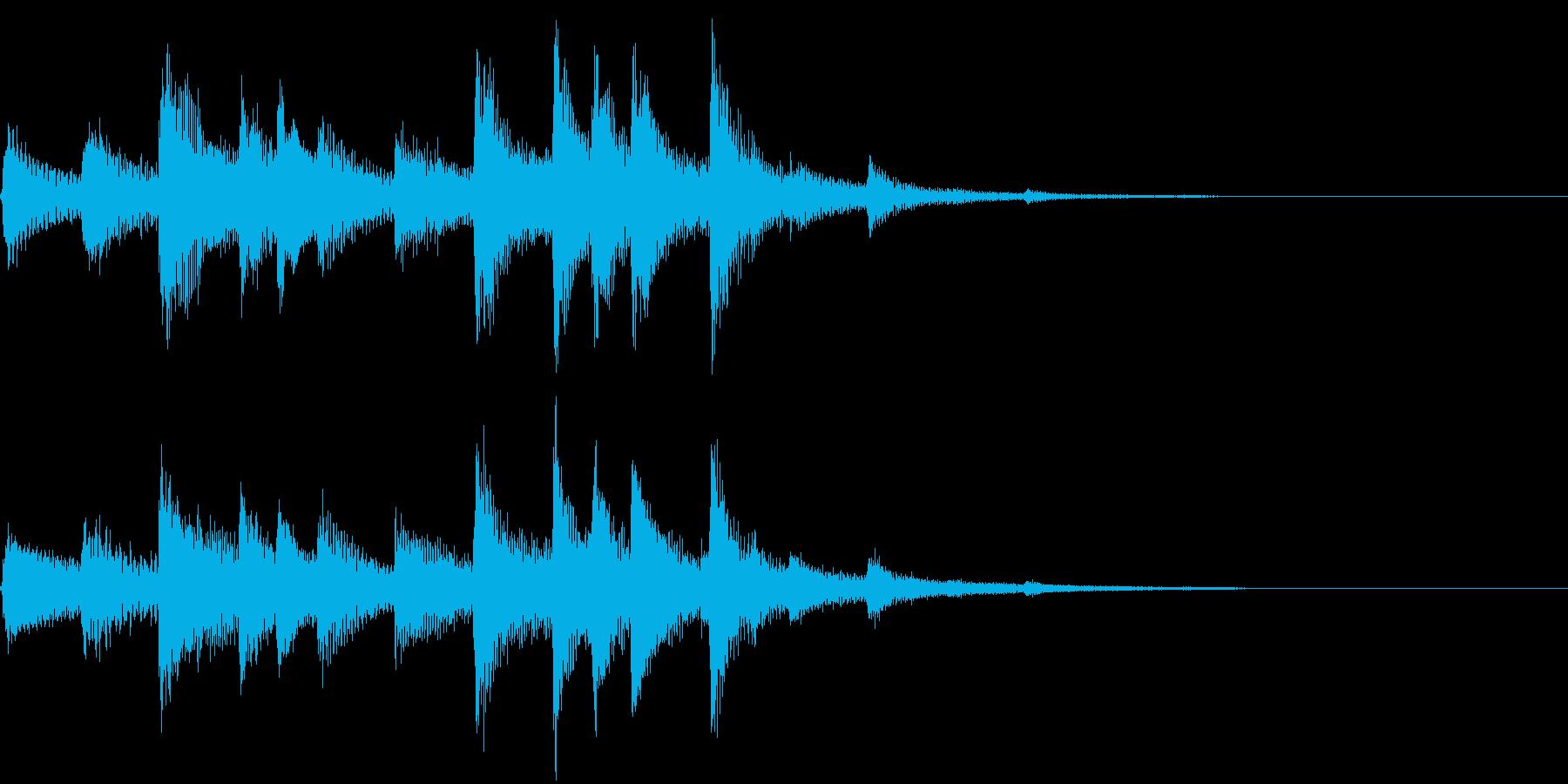 琴の和風ジングル4の再生済みの波形