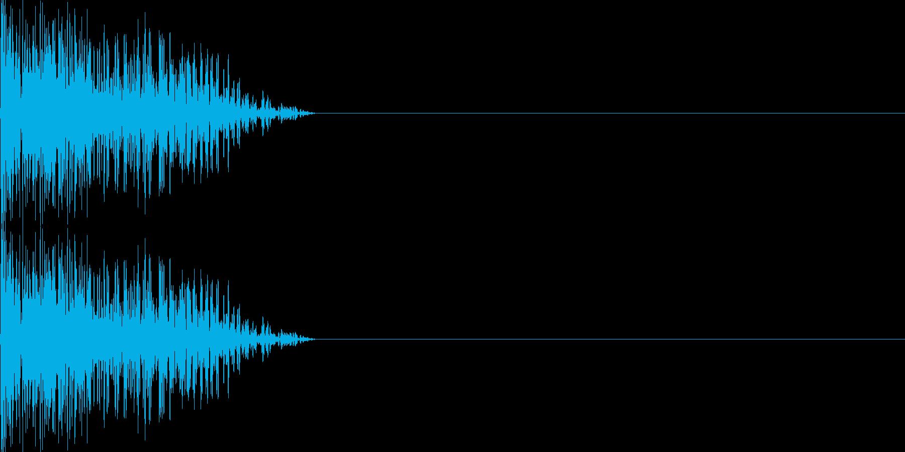 攻撃音06(重規模の銃)の再生済みの波形