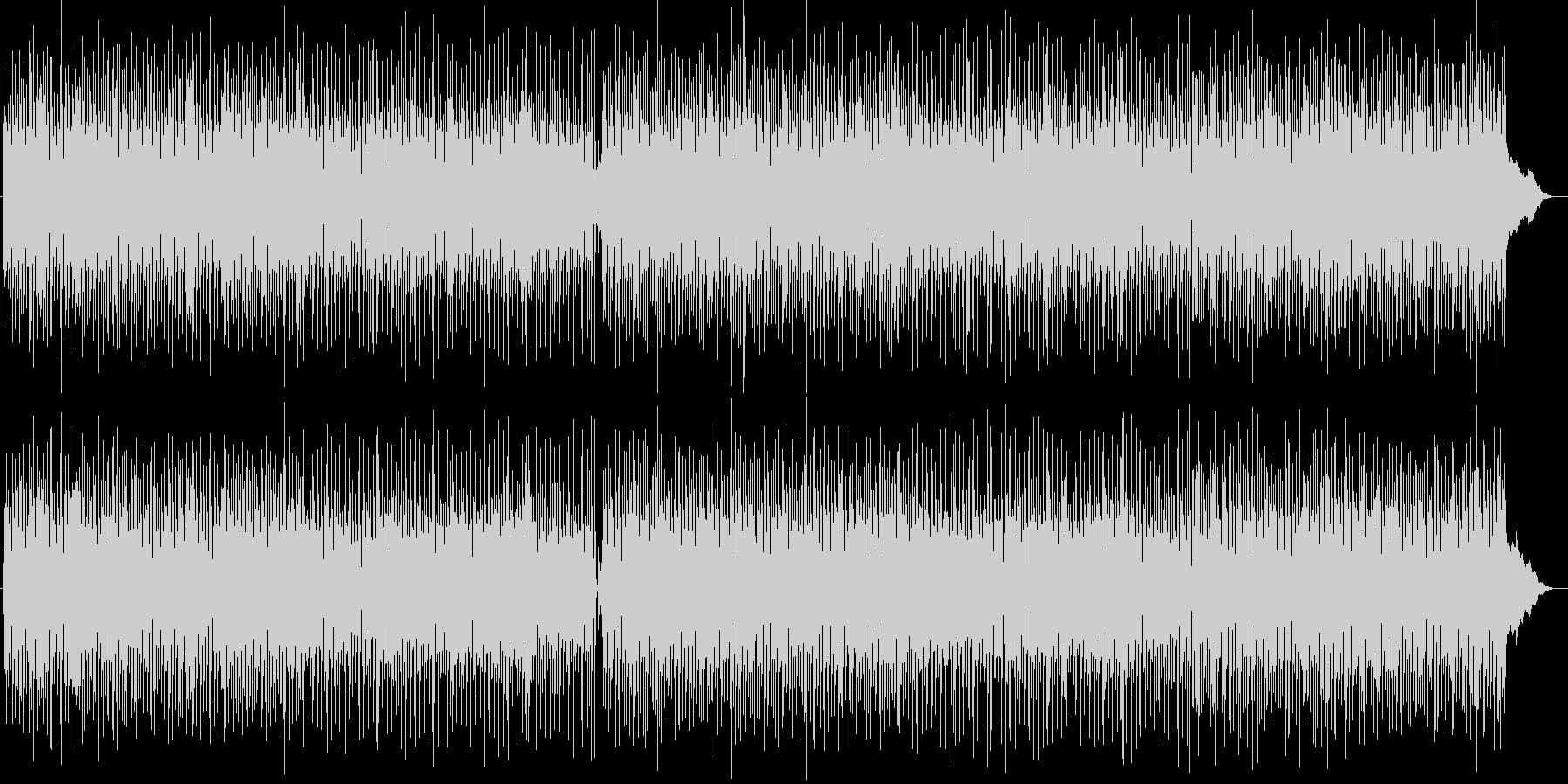 明るいポップな弾みのあるシンセサイザー曲の未再生の波形