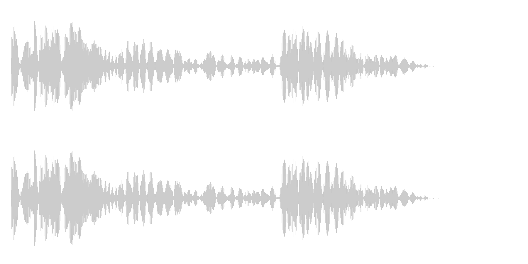 プワァ〜ワ(風船が弾むような音)の未再生の波形