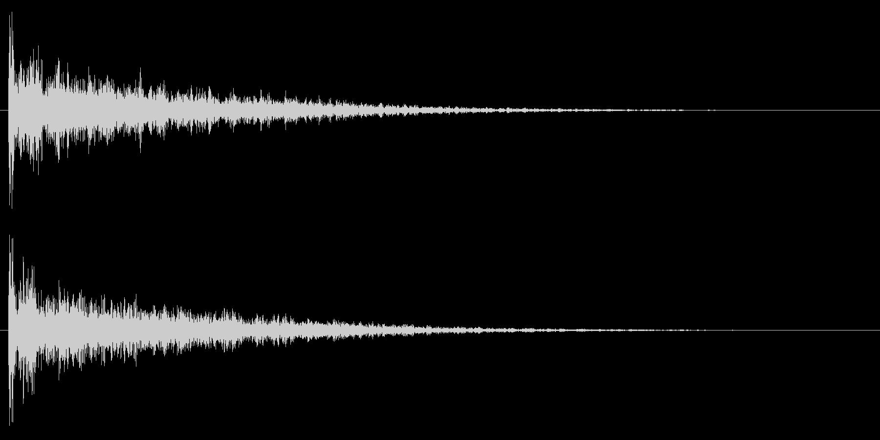 ドーン/映画/インパクトの未再生の波形