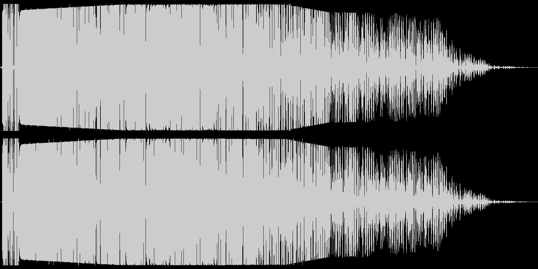 ゴォオオン(音が残る爆発音)の未再生の波形
