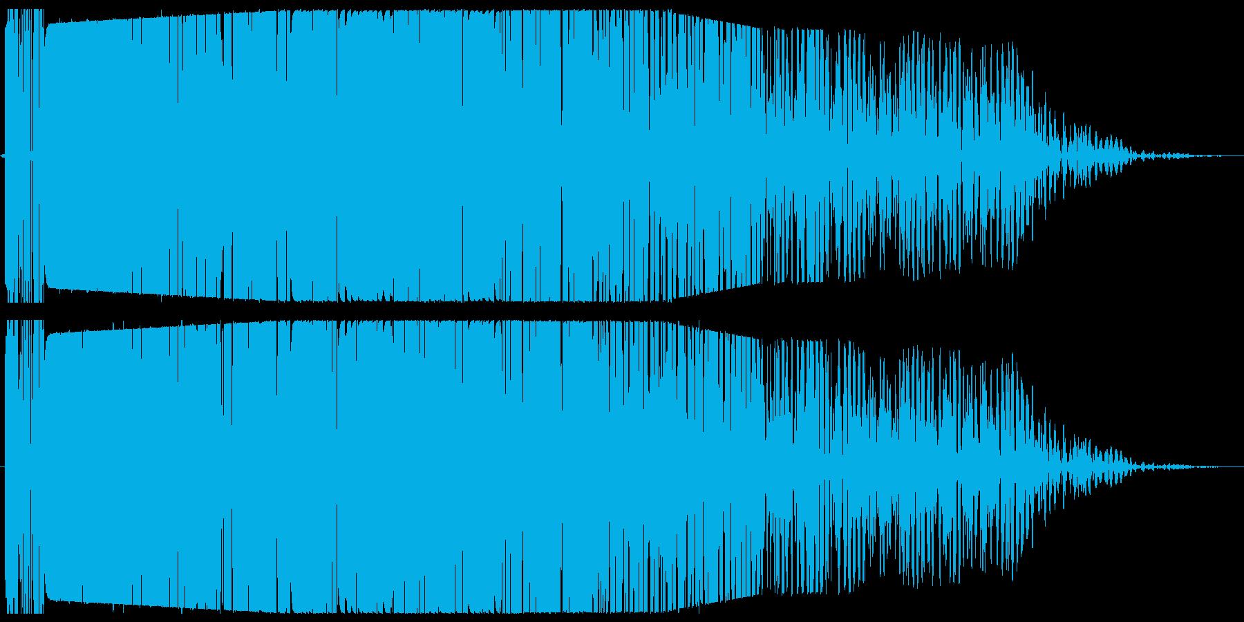 ゴォオオン(音が残る爆発音)の再生済みの波形