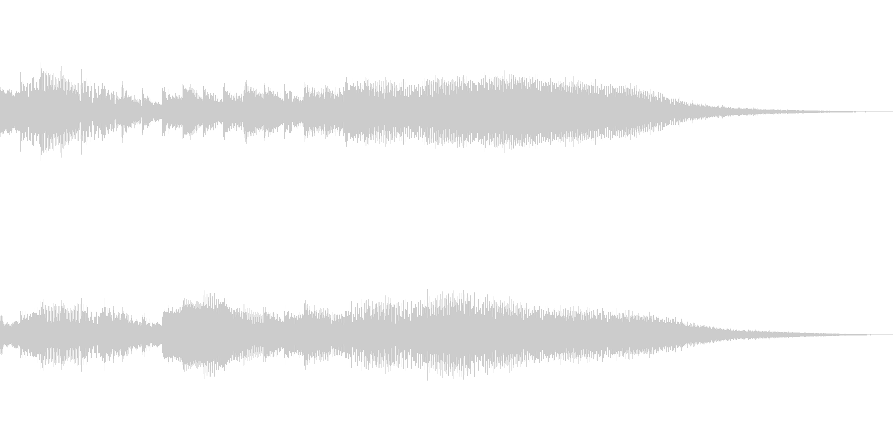 爽やかでお洒落なタイトルロゴ 波の未再生の波形