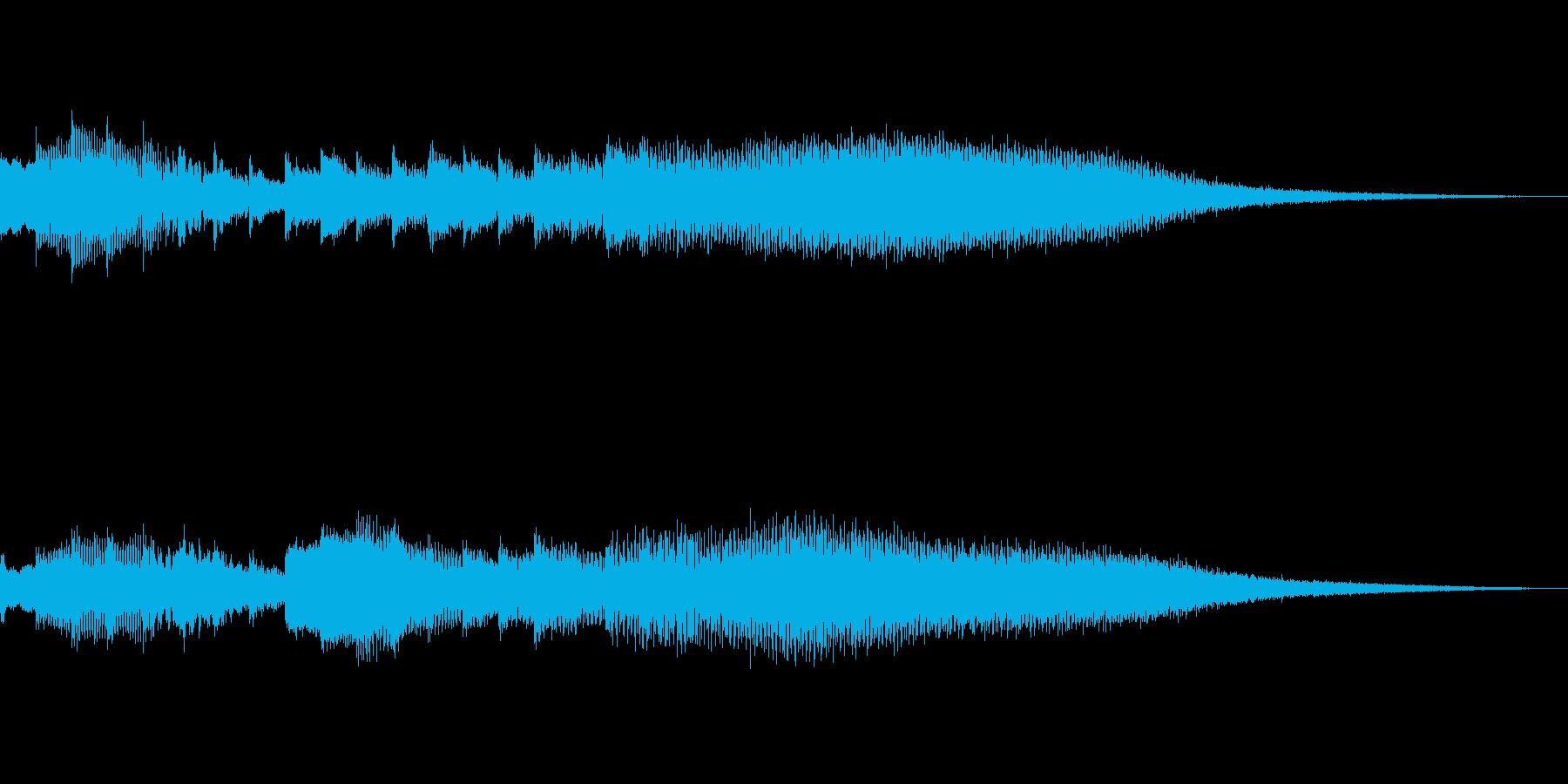 爽やかでお洒落なタイトルロゴ 波の再生済みの波形