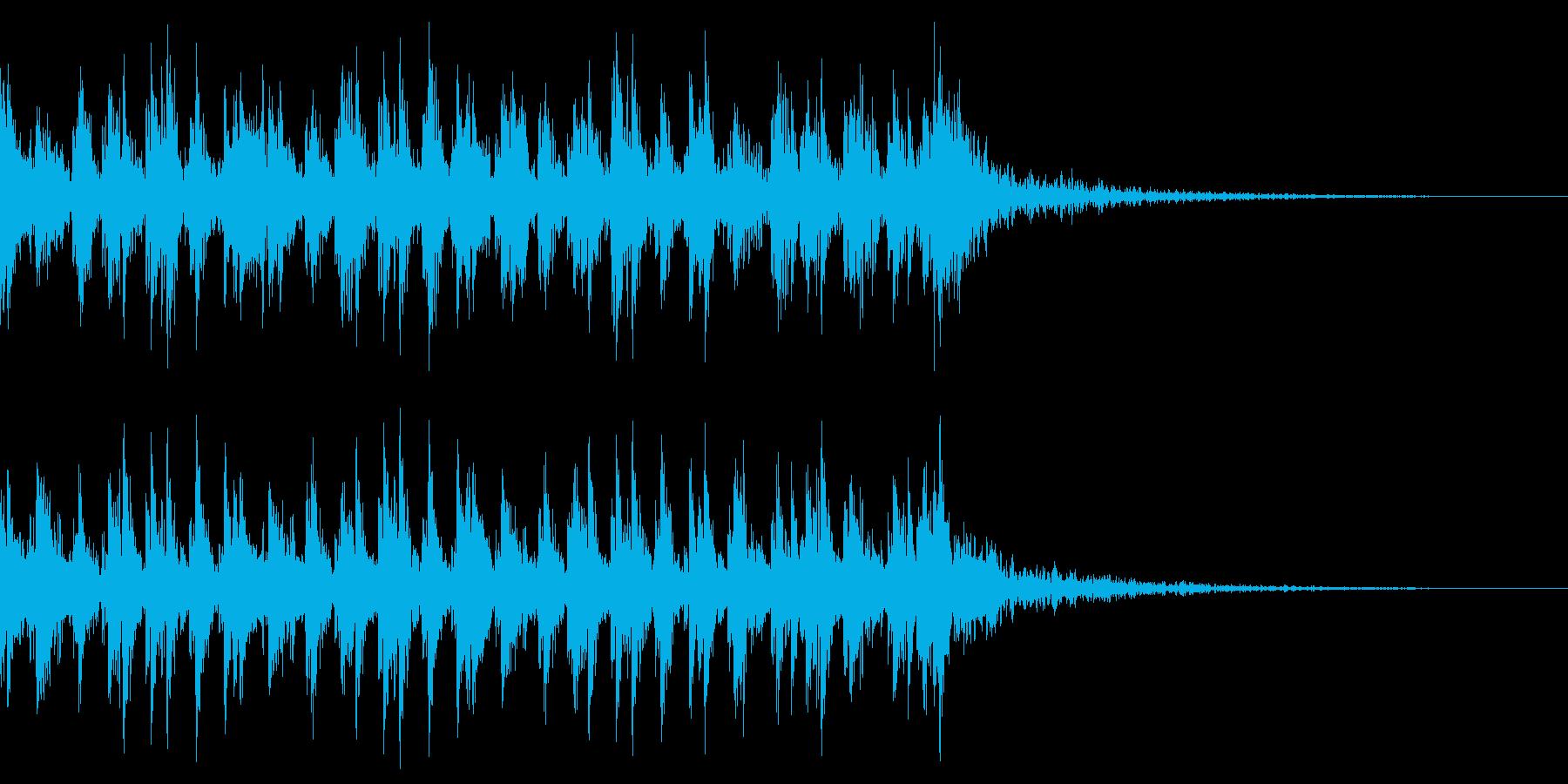 和風 三味線 ジングル アップ 正月の再生済みの波形