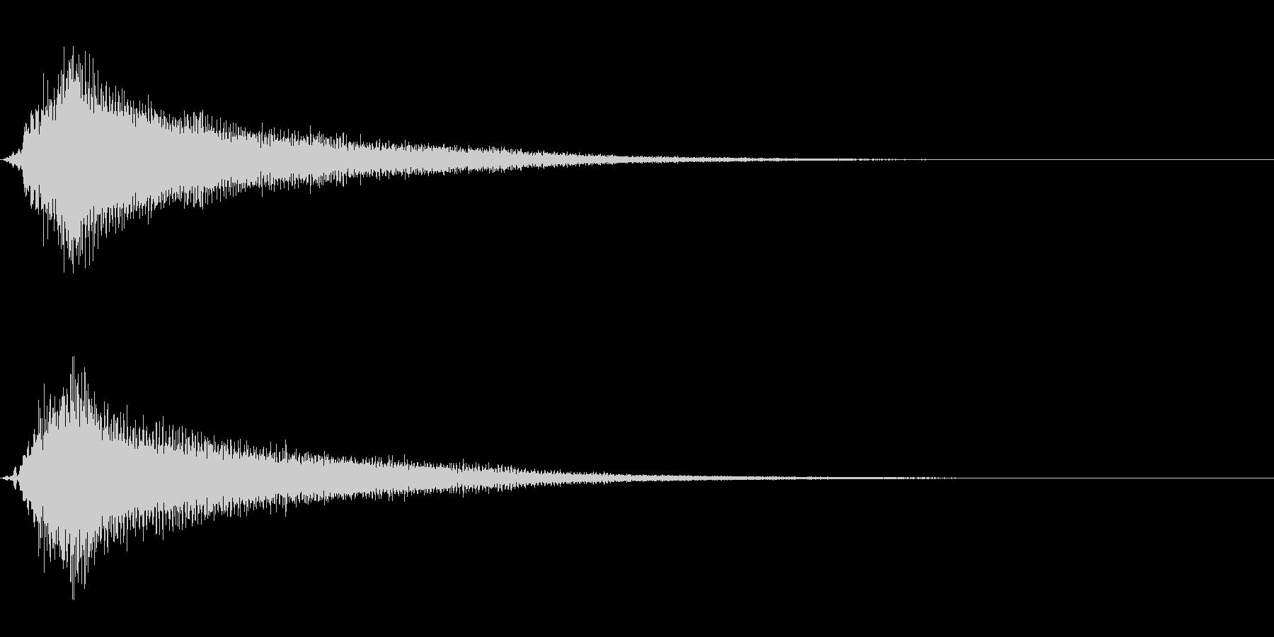 サスペンスに最適!ピアノの弦を弄ぶ音30の未再生の波形