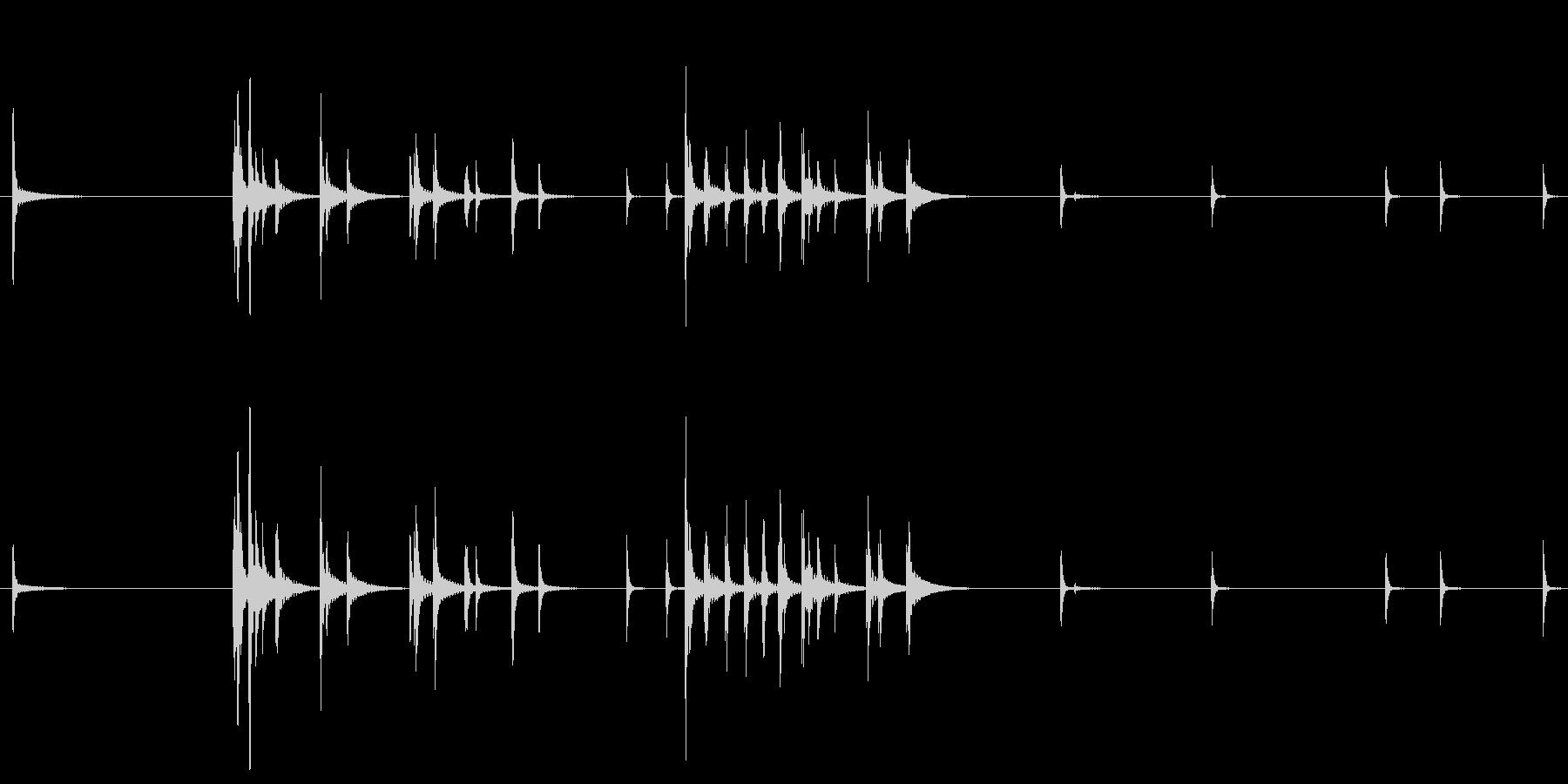 カラカラカラ 鳴子の罠に引っかかった時…の未再生の波形