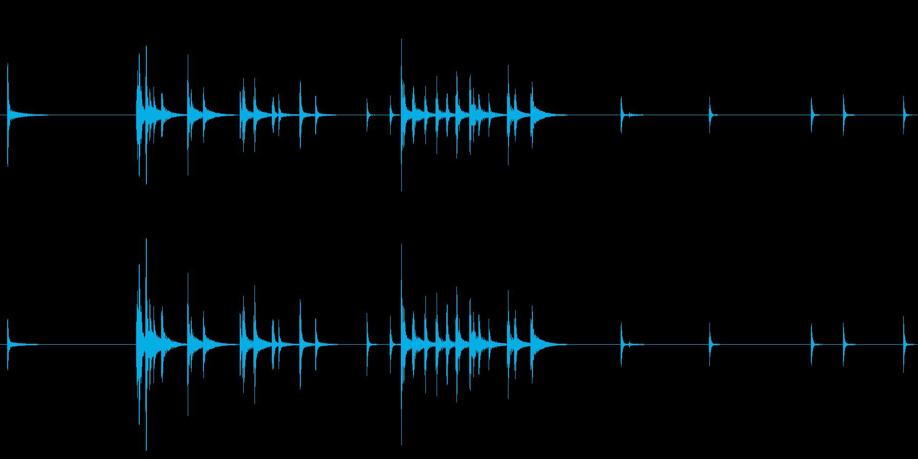 カラカラカラ 鳴子の罠に引っかかった時…の再生済みの波形