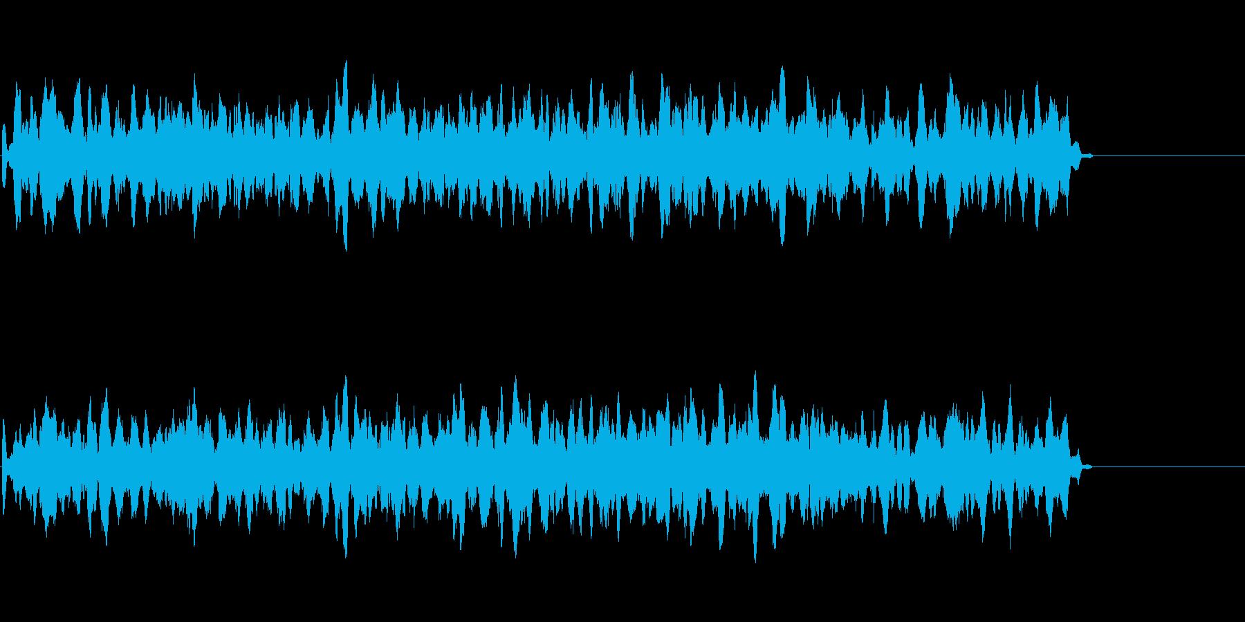 不思議な雰囲気の電子音の再生済みの波形