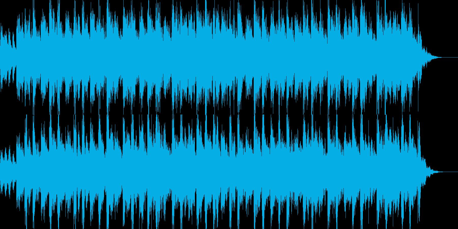 民族の曲調でシリアル系の曲の再生済みの波形