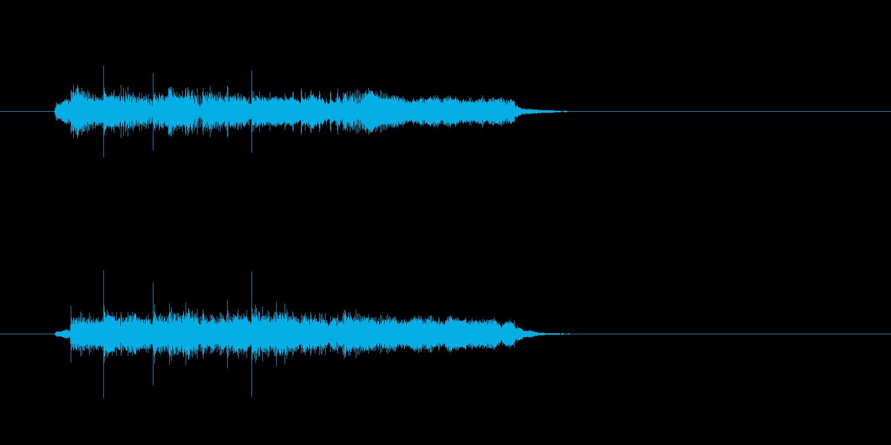 ジングル(コーナー・テーマ風)の再生済みの波形