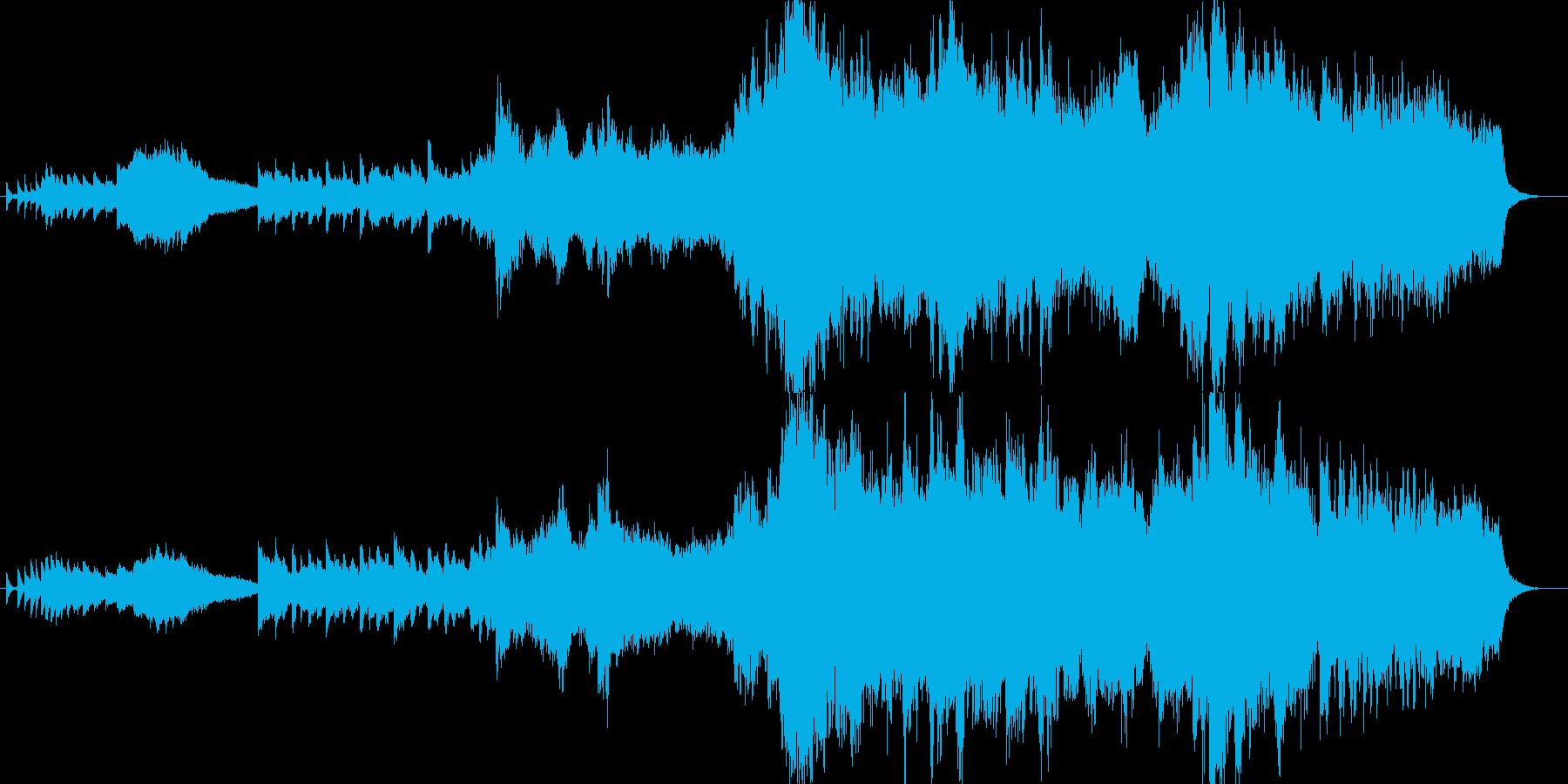 エレガントな雰囲気のオーケストラバラードの再生済みの波形