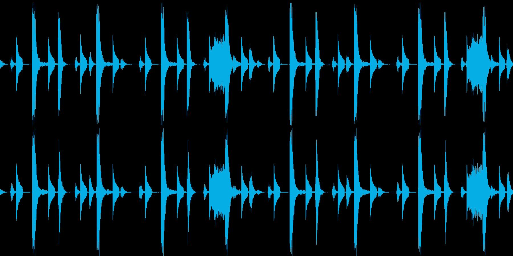 ドラムの音の再生済みの波形