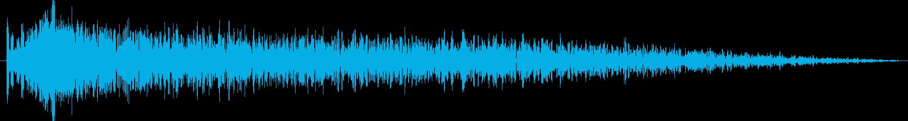 衝撃シーンのワンショットホラー効果音の再生済みの波形