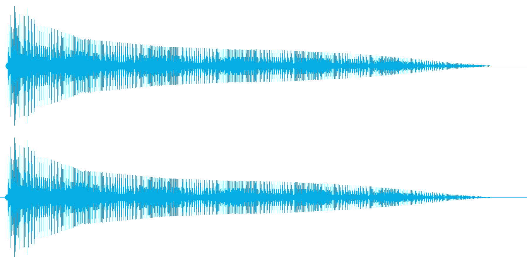 ビヨヨヨョ〜ン(伸縮するコミカルな音)の再生済みの波形