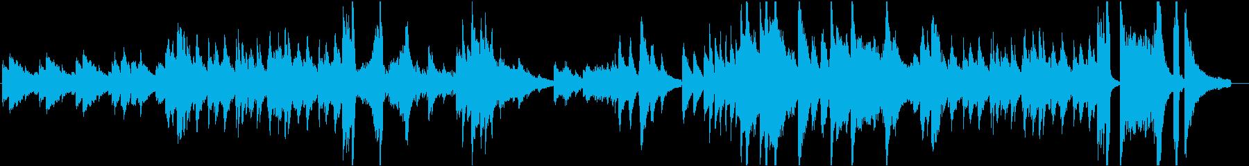 近代クラシック風のソロピアノ曲の再生済みの波形