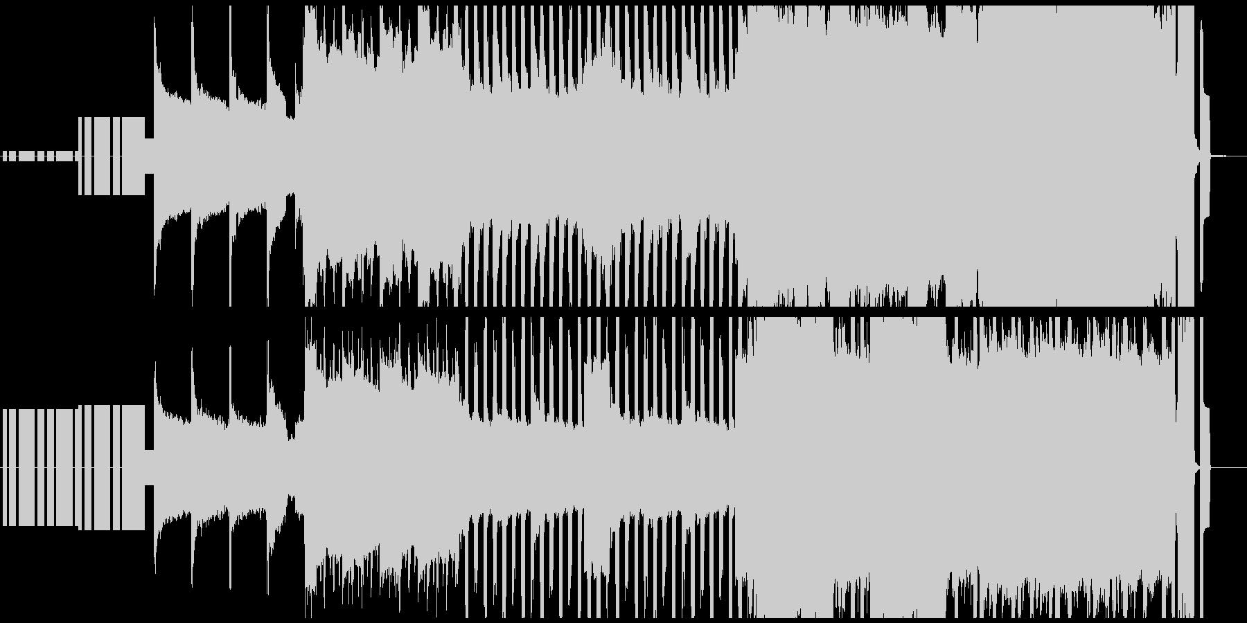 楽しさや明るさが全面に出ている8bit曲の未再生の波形