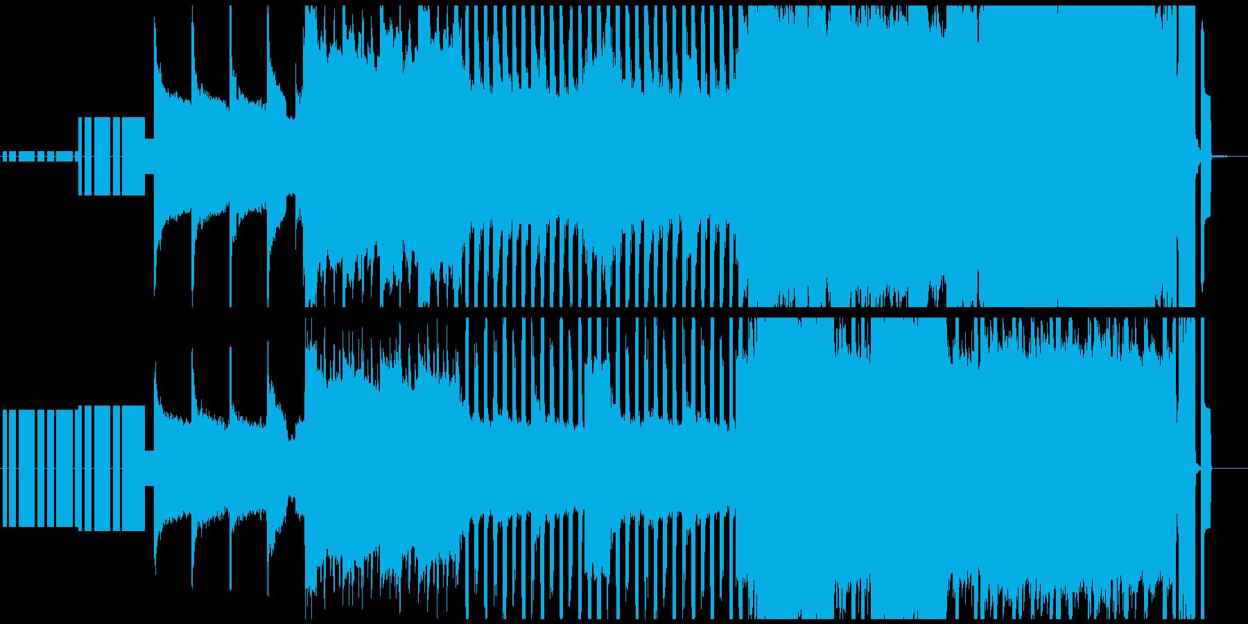 楽しさや明るさが全面に出ている8bit曲の再生済みの波形