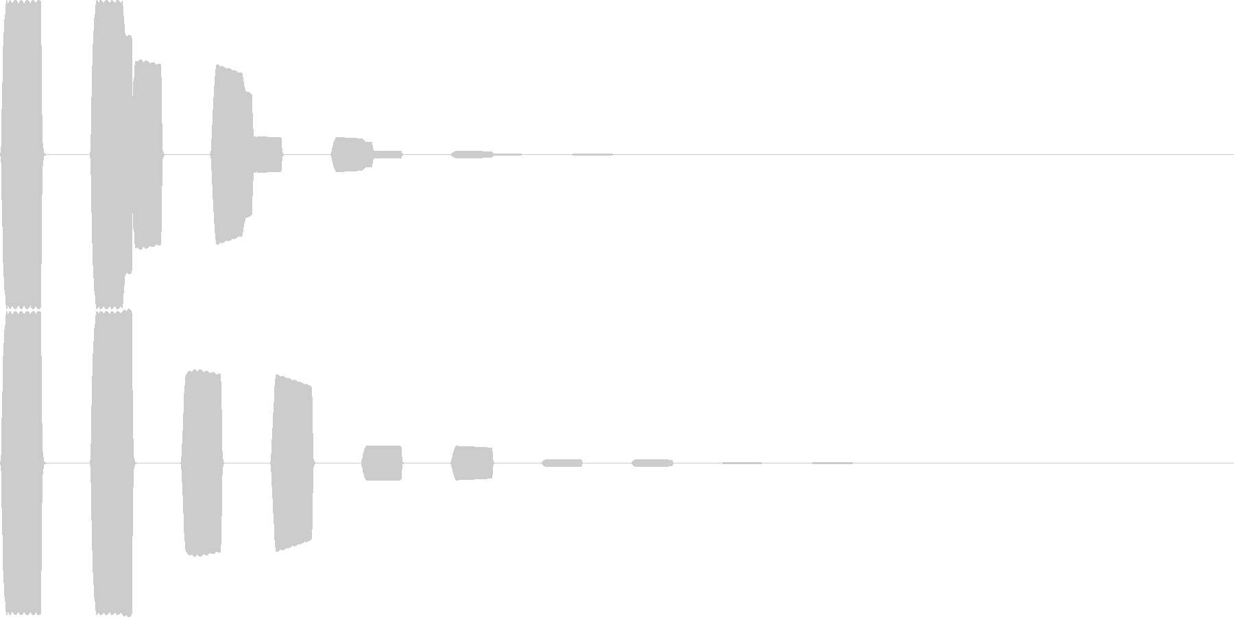 汎用キャンセルボタン - 7の未再生の波形