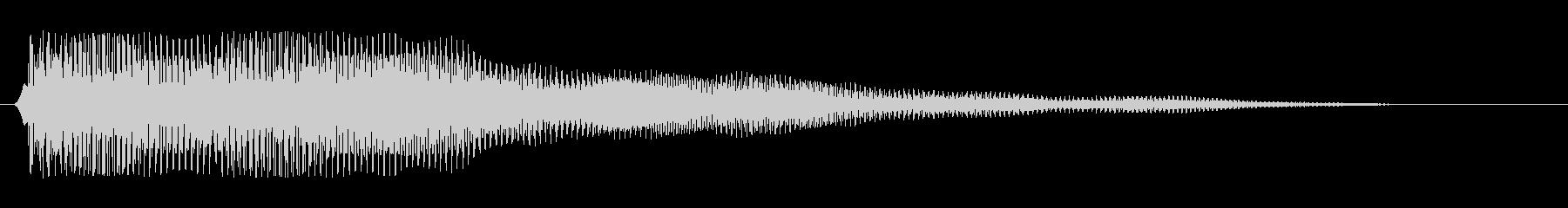 ビョ〜ン、ビョビョ〜ン(コミカル効果音)の未再生の波形