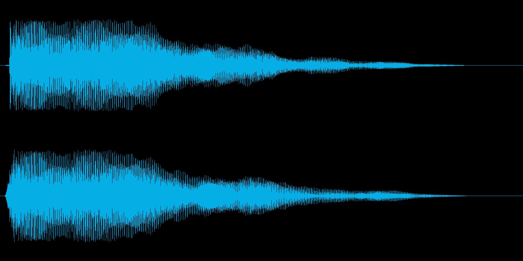 ビョ〜ン、ビョビョ〜ン(コミカル効果音)の再生済みの波形